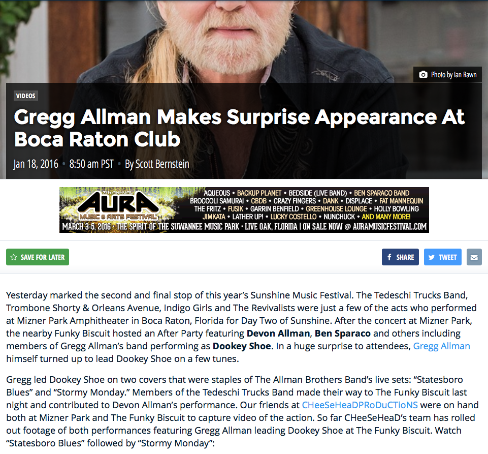 gregg allman surprise